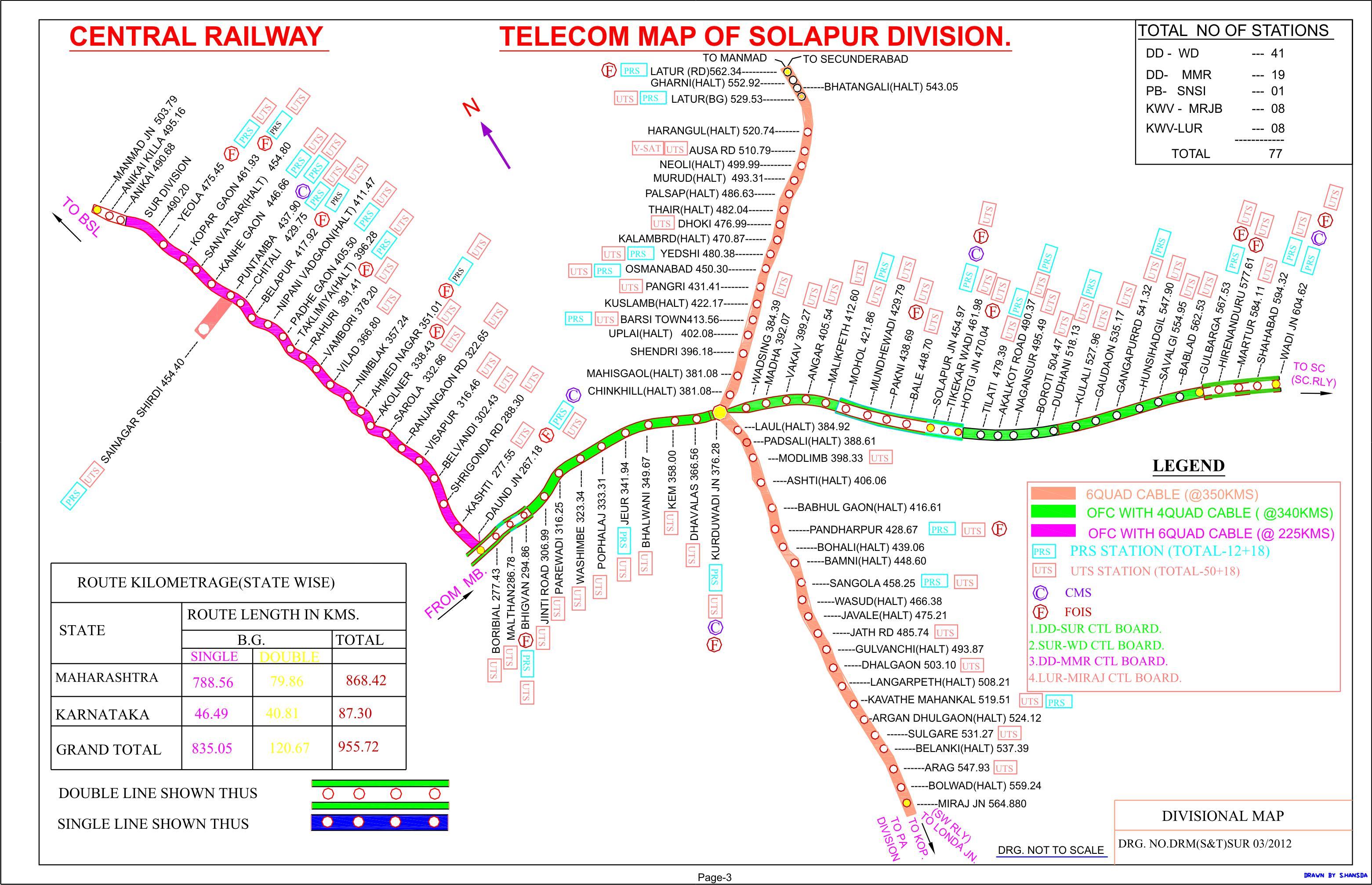 Central Railway Indian Railways Portal - Solapur map